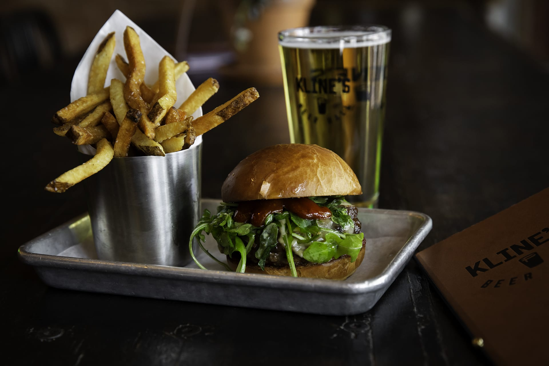 Kline's $10 Lunch Combo: Burger, Beer & Fries
